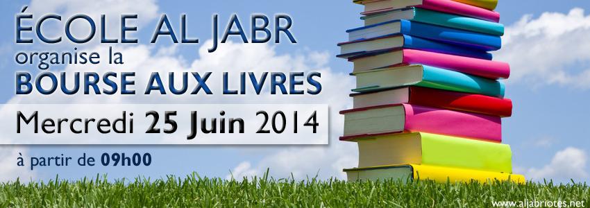La Bourse aux Livres aura lieu le Mercredi 25 Juin 2014.